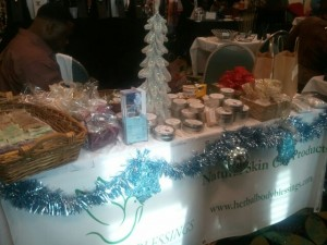 Herbal Body Blessings' table at the show