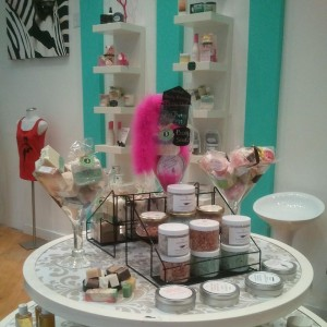 Our bath Salts & Body butters on display at Epic Curls Boutique, Regency Square Mall Richmond VA